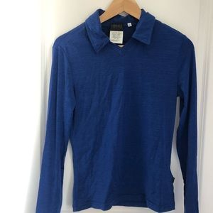 Versace - blue top. Fits medium
